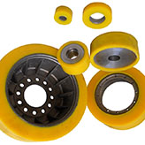 polyurethane urethane PU parts products -logistic wheels-High industry Tech.jpg